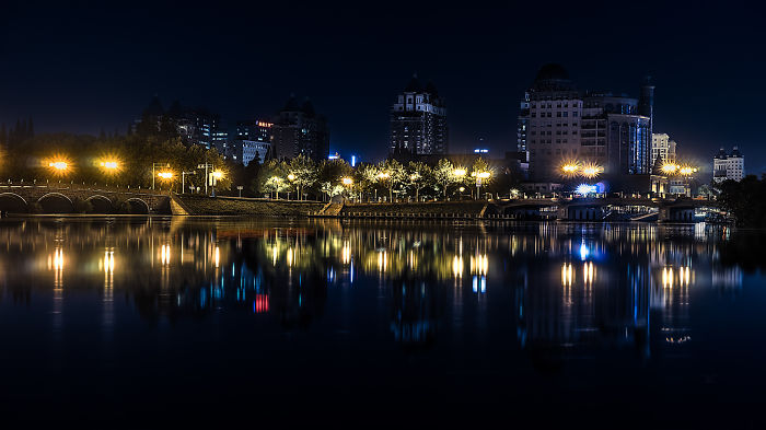 I Captured A Beautiful Night In The City Of Nantong, China