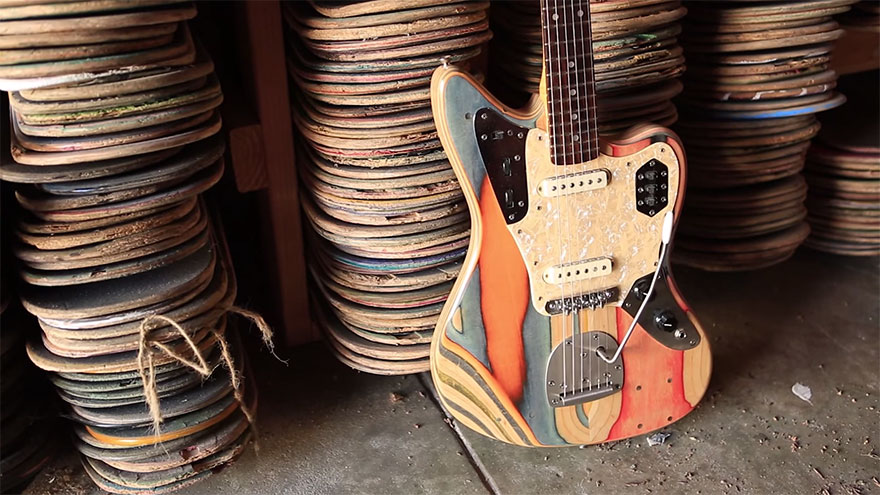 guitars made from skateboards