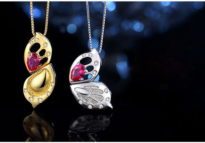 Rotational Newborn Butterfly Necklace
