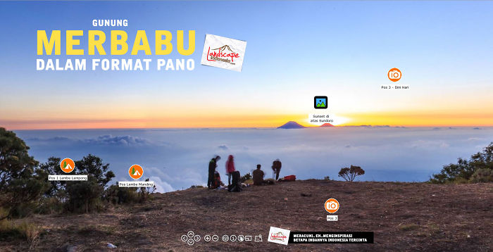 I Made Merbabu Mountain (indonesia) Panorama So You Can View From Top Without Tired