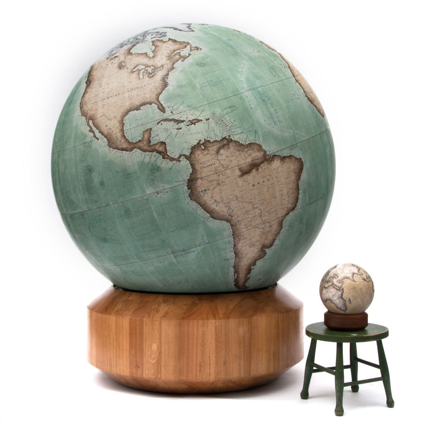 One of the worlds last remaining globe makers that use the ancient the largest globe we make next to the smallest gumiabroncs Images