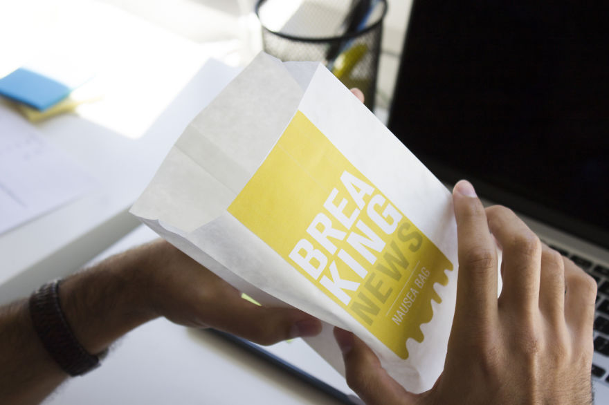 We Figured Out That Nausea Bags Are The Best Way To Deliver News