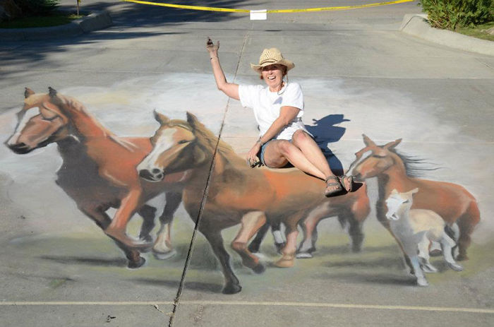 After I Was Laid Off At Age 45, I Became A 3D Street Artist