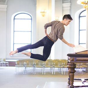 Ballet Dancer Masters Taking Self-Portraits While Floating In Mid-Air
