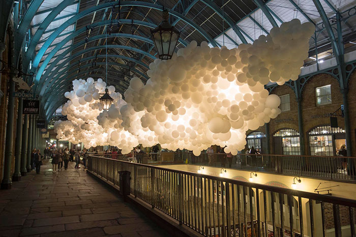 Artist Floats 100,000 Balloons Inside London's Covent Garden Market