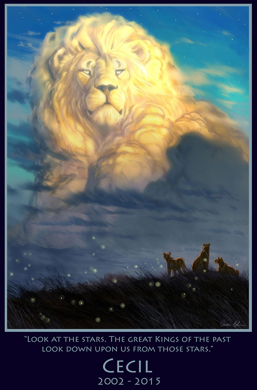 cecil-lion-king-tribute-painting-speed-video-disney-artist-aaron-blaise-2