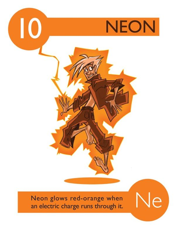 7 neon - Periodic Table As Characters