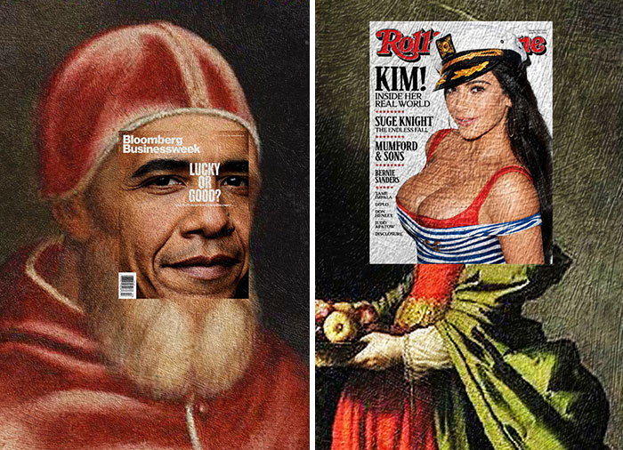 I Do Mash-Ups Of Magazine Covers And Classical Paintings (Part 2)