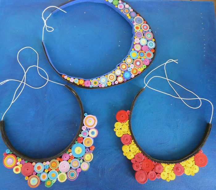 I Use Paper To Create Beautiful Necklaces