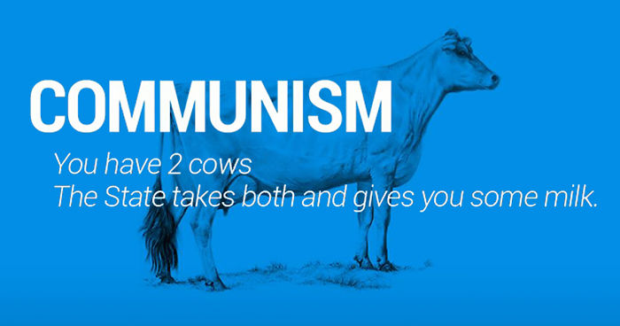 Two cows explain economics better than any class bored panda - Bourgeois house definition ...