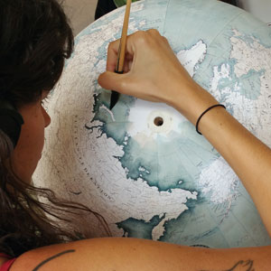 One Of The World's Last Remaining Globe-Makers That Use The Ancient Art Of Making Globes By Hand