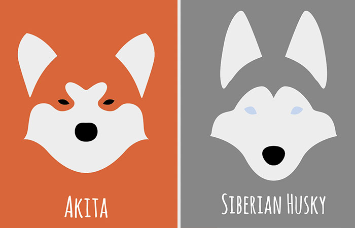 I Make Minimalist Illustrations Of Various Dog Breeds