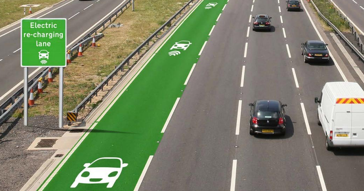UK Is Testing Roads That Charge Electric Cars As They Drive