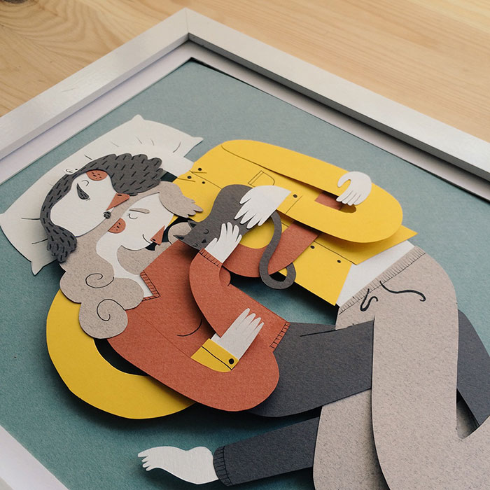 La Siesta: I Capture Cozy Family Moments With Paper Art