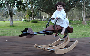 Dad Builds 'Star Wars' Rocking Horse For His Daughter's First Birthday