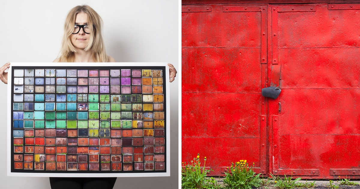I Photographed The Most Colorful Old Garage Doors Of Lithuania