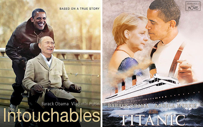 Obama, Merkel, And Putin As Leading Actors In Famous Movies