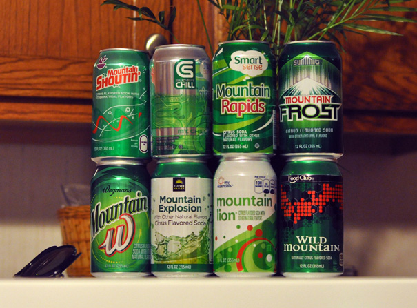 A Father's Amazing Collection Of Off-Brand Mountain Dews