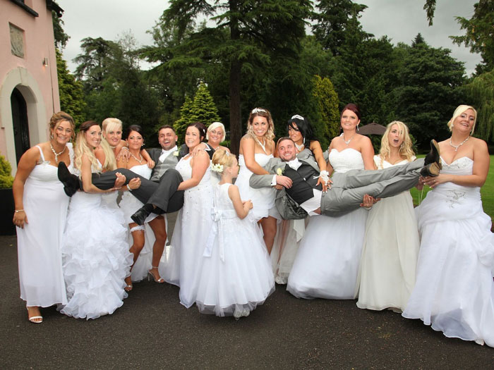 This Gay Couple Asked All Their Bridesmaids To Wear Wedding Dresses