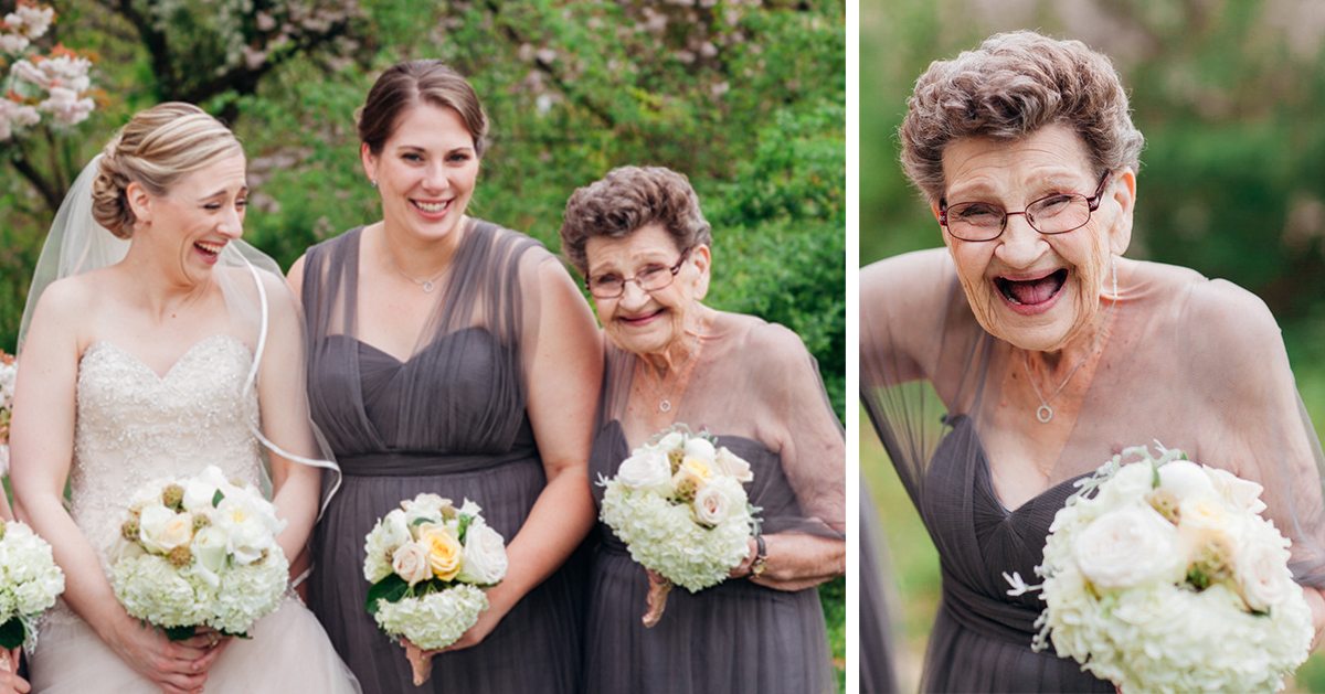 Bride Invites Her 89-Year-Old Grandma To Be A Bridesmaid At Her Wedding  Bored Panda-1952