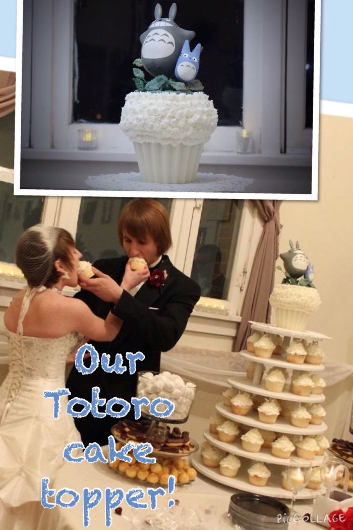 Totoro Wedding Cupcakes