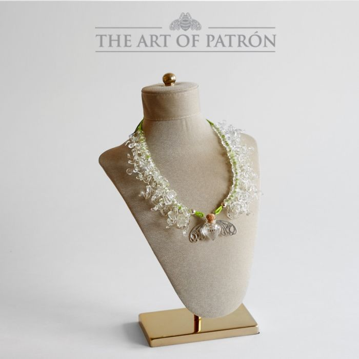 I Made This Necklace From A Patron Bottle. Now I'm A Finalist In Te Art Of Patron Contest!
