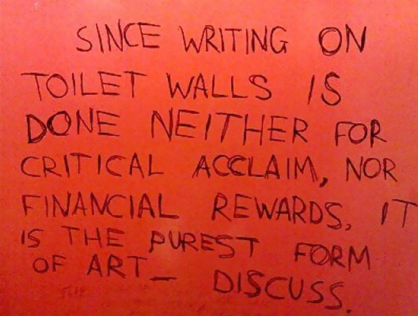 Bathroom Stall Snobbery