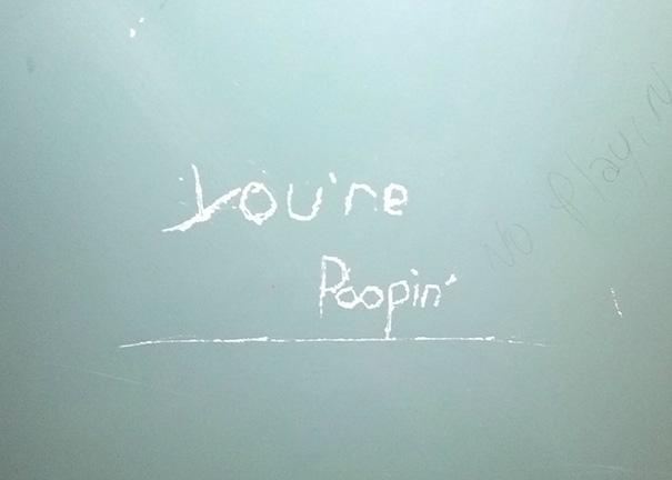 Accurate Bathroom Graffiti At Work
