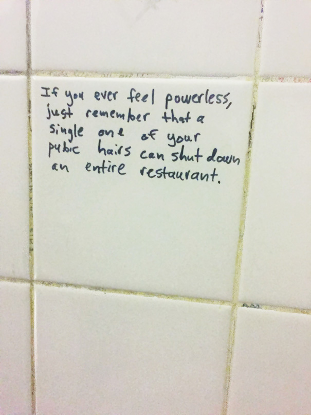 Saw This On The Bathroom Wall