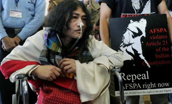 Irom Sharmila,activist From Manipur(india), On Hunger Strike Since 2000 Against Armed Forcesact
