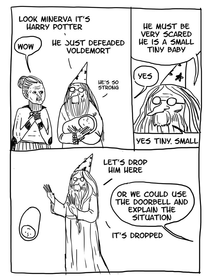 15 Funny 'Harry Potter' Comics Reveal How Irresponsible Dumbledore