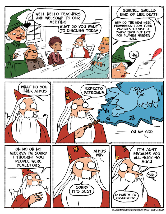 Image result for dumbledore assigning points comic