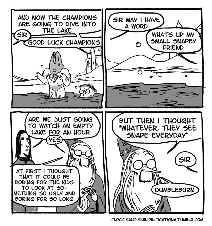 When Dumbledore Made Them Watch The Lake For An Hour