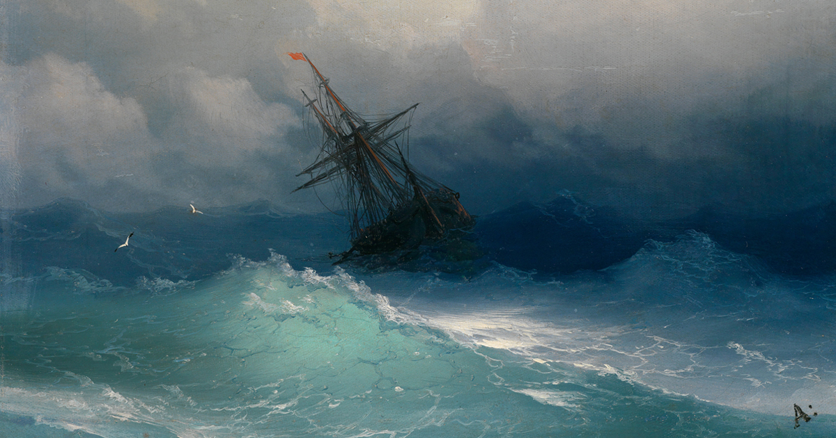 Hypnotizing Translucent Waves In 19th Century Russian Paintings Capture The Raw Power Of The Sea