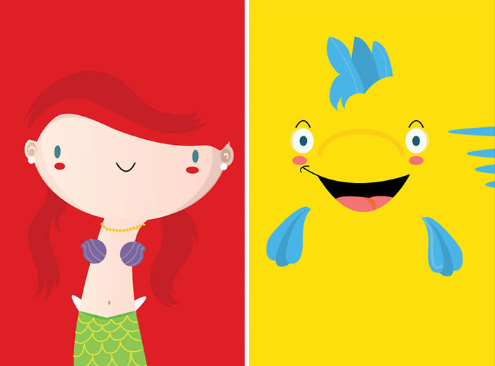 I Make Minimalist Classic Fairytales Characters