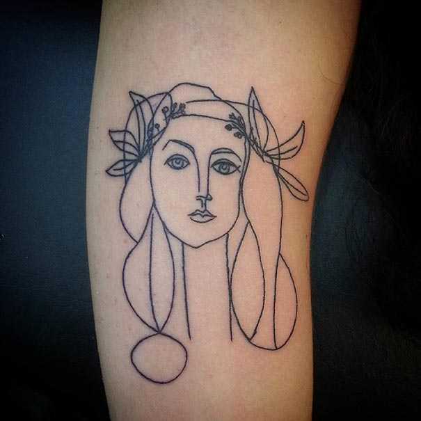 Picasso Line Drawing Tattoo : Picasso inspired tattoo ideas for art lovers bored panda