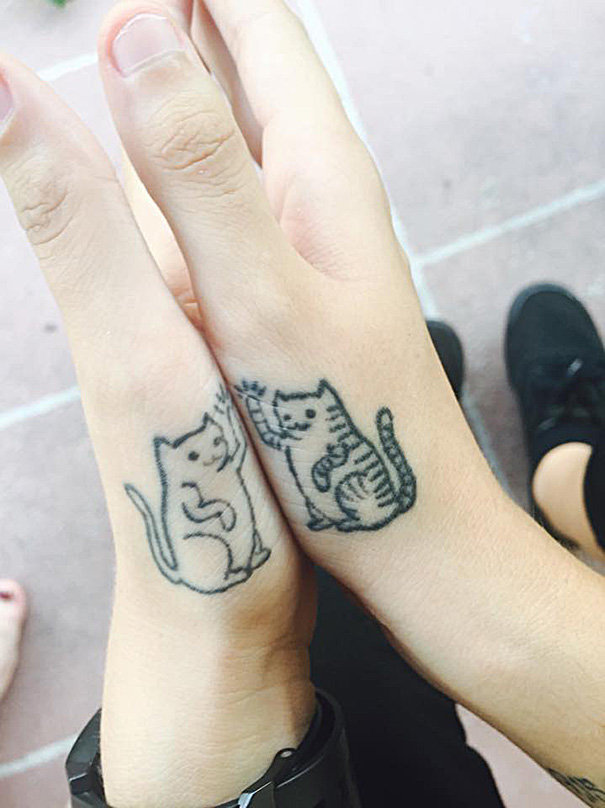 High Five Cats Tattoo