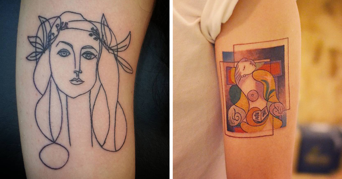 31 Picasso-Inspired Tattoo Ideas For Art Lovers | Bored Panda