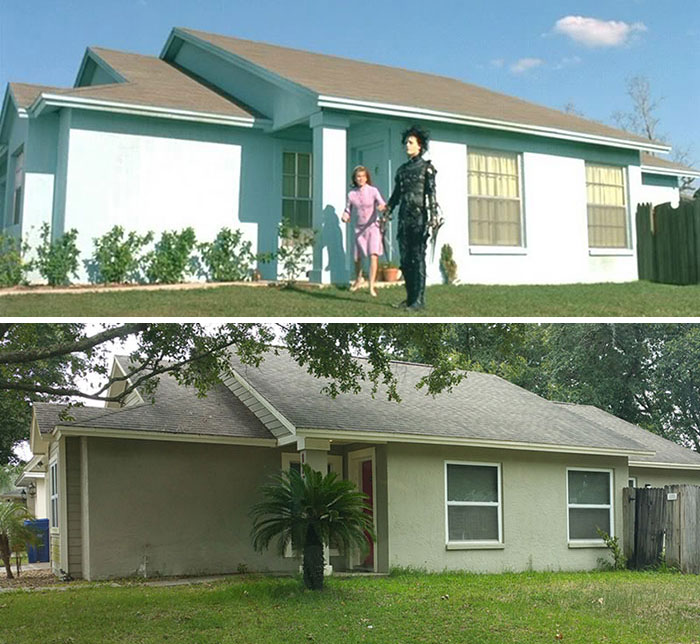 """25-Years-Later, This Is What The """"Edward Scissorhands"""" Neighborhood Looks Like"""