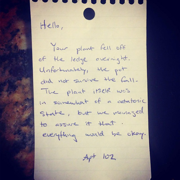 A Friend Left A Note For His Neighbor