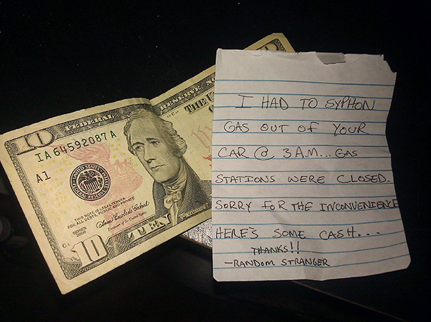The Weird Thing Is My Neighbor Got The Same Note An Hour Later