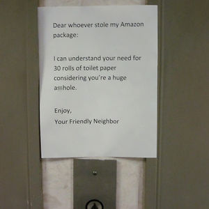 A Funny Neighborly Note