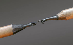 Stunningly Detailed Sculptures Carved From Pencil Tips By Bosnian Artist