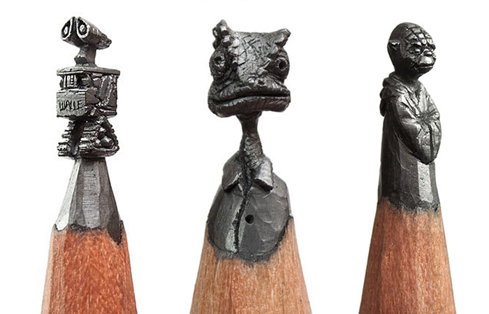 I Turn Pencils Into Miniature Pop-Culture Sculptures