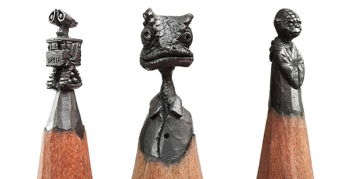 I turn pencils into miniature pop culture sculptures