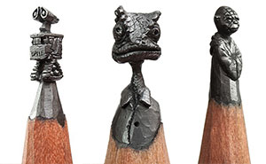 I Turn Pencils Into Miniature Pop-Culture Sculptures