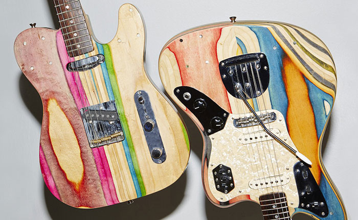 I Turn Broken Skateboards Into Electric Guitars