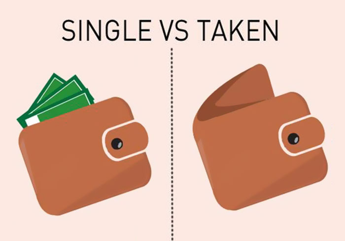 10 Illustrations Show Differences Between Single And Taken Guys