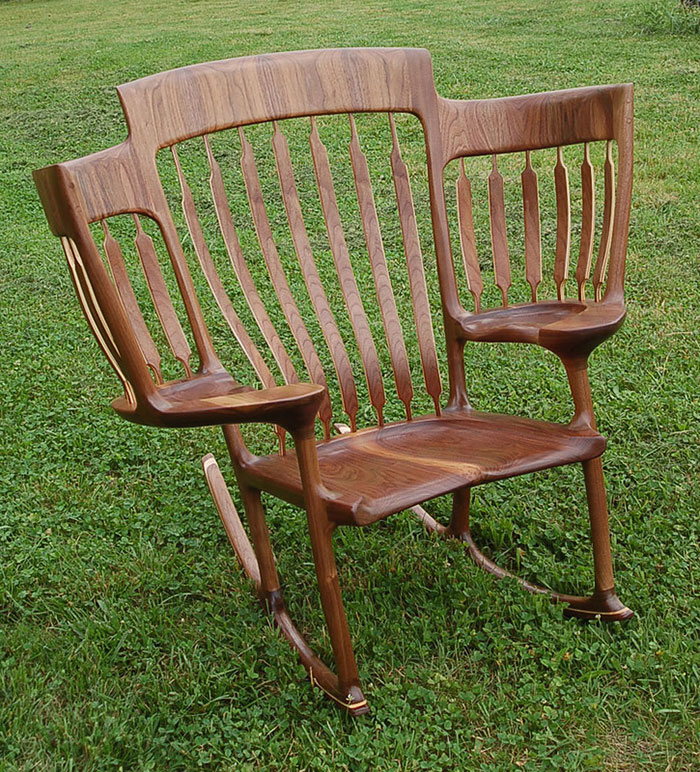 heirloom rocking chairs dad builds triple rocking chair so he could read to his 3 kids