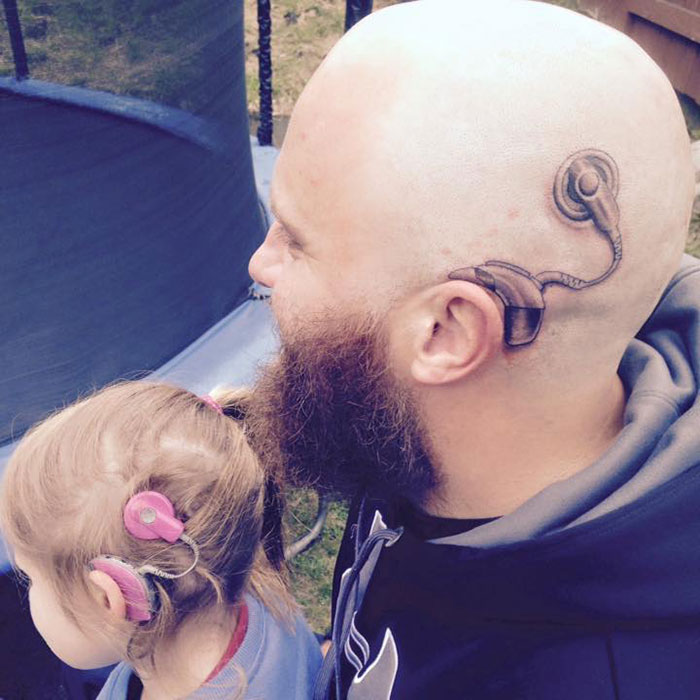 Dad Gets Tattoo So His 6-Year-Old Daughter Wouldn't Feel Different
